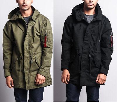 Activewear Coats & Jackets jk715-g1f Objective Victorious Men's Ma-1 Bomber Style Military Anorak Safari Jacket Coat