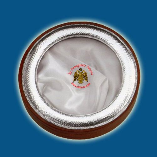 Orthodox Byzantine Wedding Crown Case Silver Sterling 925 Metal Decoration