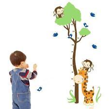 Cartoon Giraffe Monkeys Wall Stiker Children's Growth Height Measure Chart