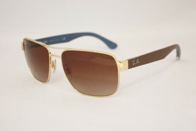 15fce7c669d92 Ray-Ban RB 3530 Sunglasses 001 13 Gold Brown Gradient Lenses 58mm MEN Rayban