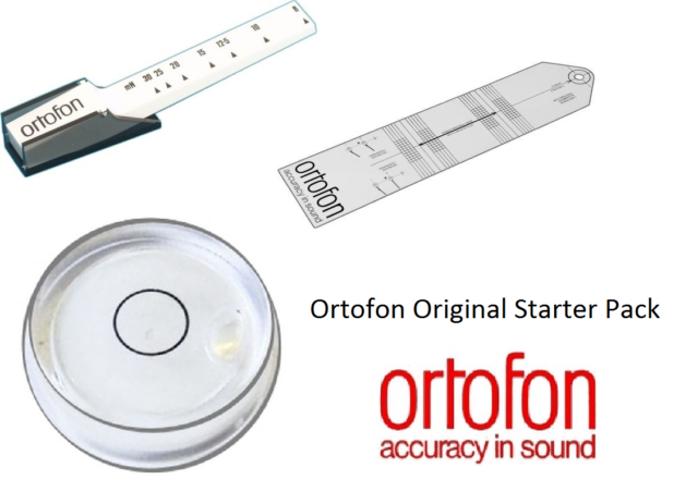 Ortofon Turntable Alignment Protractor Surface Spirit Level,Stylus Gauge Pack