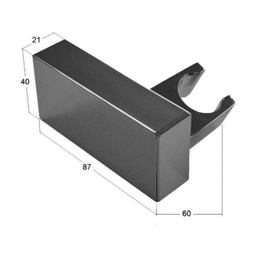 Handbrause Set Duschkopf Set Quadro mit Schlauch 150cm Brausehalter Wandhalter