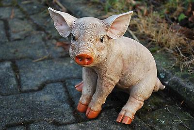Ferkel Schweinchen Schwein Gartenfigur Standfigur Dekoration Tierfigur