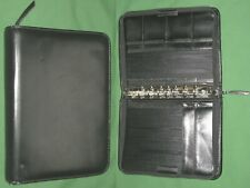 Classic 125 Black Leather Day Runner Planner Binder Franklin Covey 7192