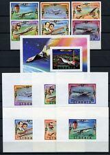 445/SPACE RAUMFAHRT 1978 Liberia Luftfahrt 1047-52 + Bl.88 + Deluxe Bl. Imperf