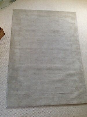 John Lewis Perth 100 Wool Rug Cream 230 X 160 New Ebay