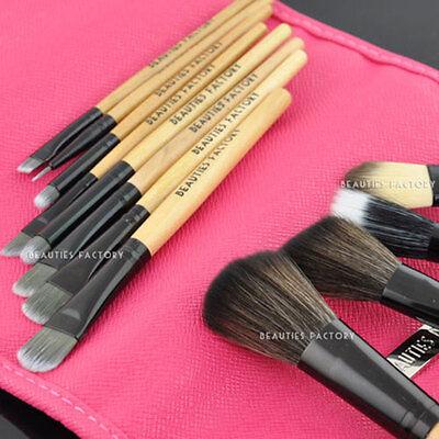 Beauties Factory 12pcs Makeup Brushes Set Pink Panther & Eyebrow Lip Liner 831A