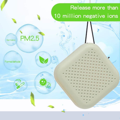 Portable Air Purifier USB Personal Wearable Necklace Negative Ionizer Anion Air