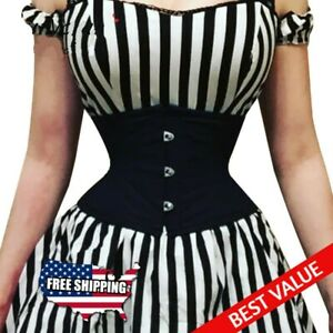 Waist Corset Women Steel Bone Underbust Training Short Torso Clothing Bustiers
