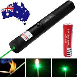 Military 20 Miles Green 1mw 532nm Laser Pointer Pen Visible Beam +18650 AU sa