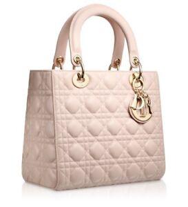 Christian Dior Lady Dior handbag rose poudre Medium NWT New never ... 5ad810be14