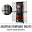 thumbnail 7 - Outdoor Adjustable Storage Cabinet Cupboard Patio Weatherproof Lockable Plastic