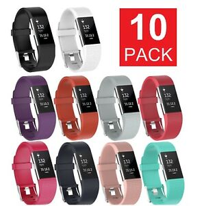 10-Pack-Replacement-Wristband-For-Fitbit-Charge-2-Band-Silicone-Fitness