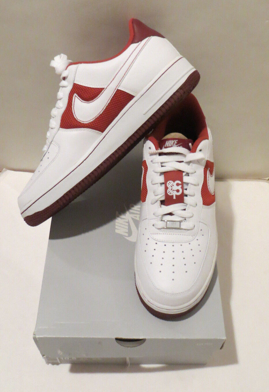MENS NEW IN BOX NIKE AIR FORCE 1 '07 TERRA COTTA/WHITE/TEAM RED SIZE 10.5