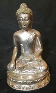 Siddharta Gautama Buddha personaggio Bronzo 24cm Cina Asia Meditazione Feng Shui Yoga