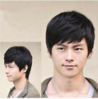 New Fashion Men Straight Short Layered Wig Cosplay Party Natural Wigs+Wig Cap