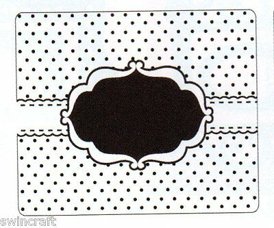 Crafts Too 12.5cmx15.0cm Embossing Folder DOTTY FRAME CTFD4020