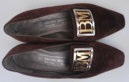 Magli Slipper Damen Braun Italy Pumps Bruno Brown True Vintage Made Ballerinas 1qxBdOA
