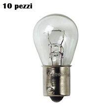 Set 10 Pezzi Lampade Lampadine 1 Filamento 21W 12V Auto Lampeggianti Stop hsb