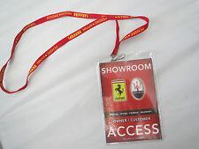 Ferrari Maserati Las Vegas Hotel Showroom Owner Pass Lanyard 360 430 308 328 355