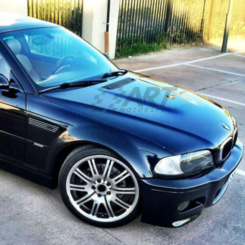 Grilles de Ventilation de Aile pour BMW E46 Sedan M3 Grilles Finition Chromé