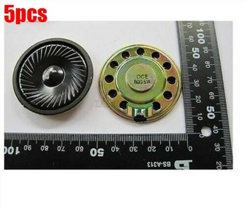 5X Lautsprecher 8Ω 0.5W Kleine Trompete 50Mm Durchmesser Lautsprecher cc