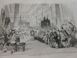 Simple Gravure 1859 - Le Bal Costumé Du Marquis De C...