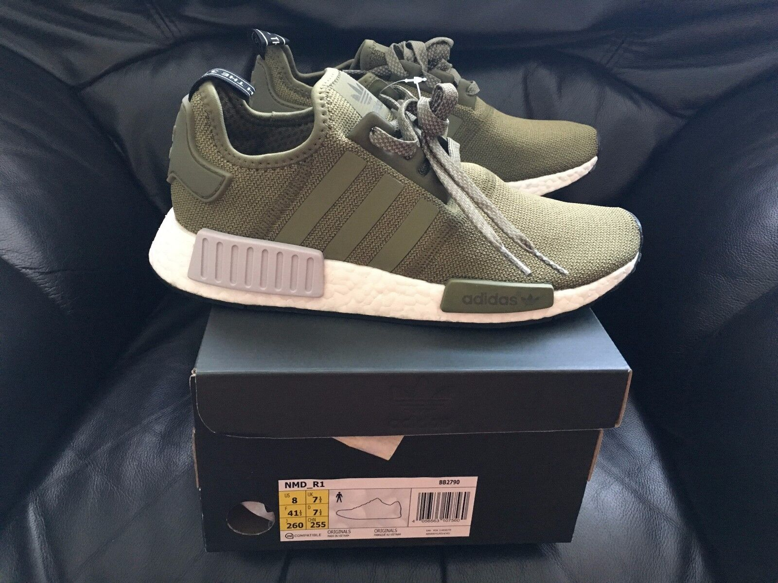 ADIDAS NMD R1 R1 R1 RUNNER OLIVE CARGO GREEN KHAKI FOOTLOCKER SIZES 6 7 8 9 10 11 12 7c7c9c