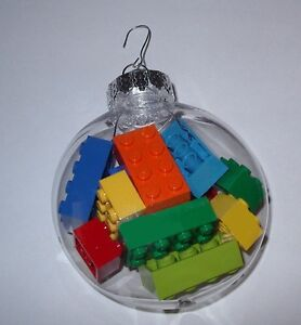 Lego Christmas Ornaments.Details About Lego Holiday Decoration Christmas Brick Ornaments Custom Made In Gift Box