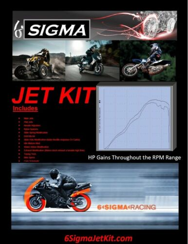 YZF R1 Jet Kit 6 Sigma Yamaha YZF1000 R1 2000-01 Custom Carburetor Stage 1-2-3-7