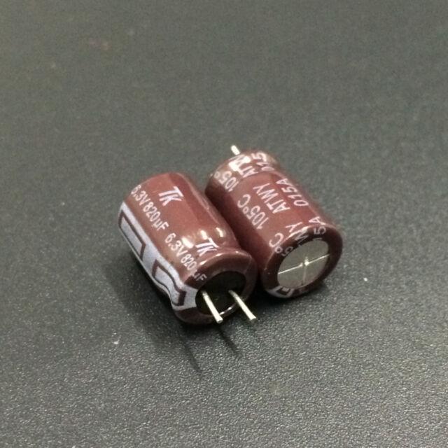 10pcs 820uF 6.3V Rubycon MCZ  6.3V820uF Low ESR Motherboard Capacitor 8x25mm