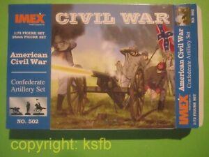 1-72-Imex-502-US-Buergerkrieg-ACW-Confederate-Artillery-Sueden-Artillerie-Protze