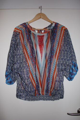 Gemusterte Ethno Sienna Style Gr Bunt Bluse 40 Td5qXw