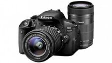 Canon EOS 700D with EF S18 - 55 mm IS II and EF S55 - 250 mm I DSLR Camera
