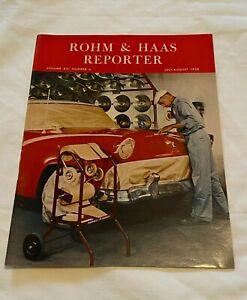 1958 Rohm & Haas Reporter Magazine Plastic & Chemical Co  in Philadelphia PA