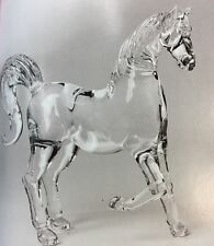 HORSE Figurine Crystal Glass