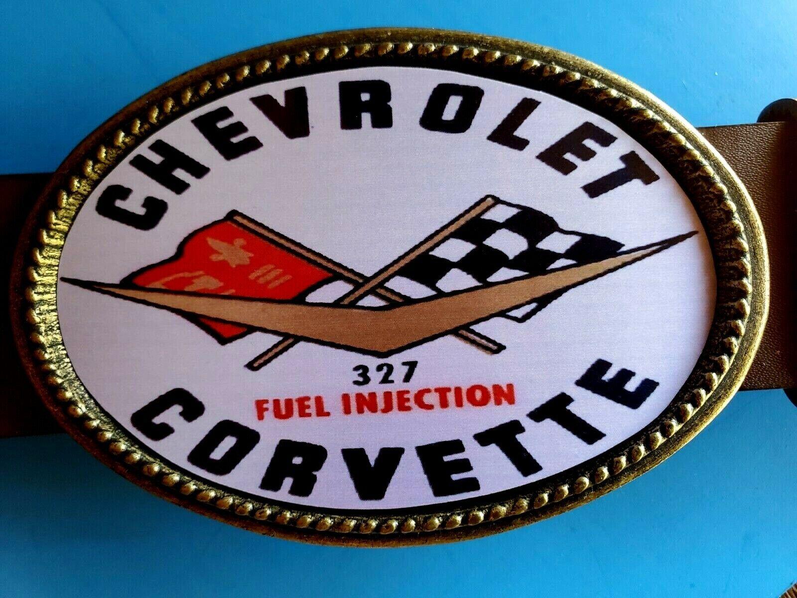 <<<CORVETTE 327 Fuel Injected>> Epoxy Photo Buckle