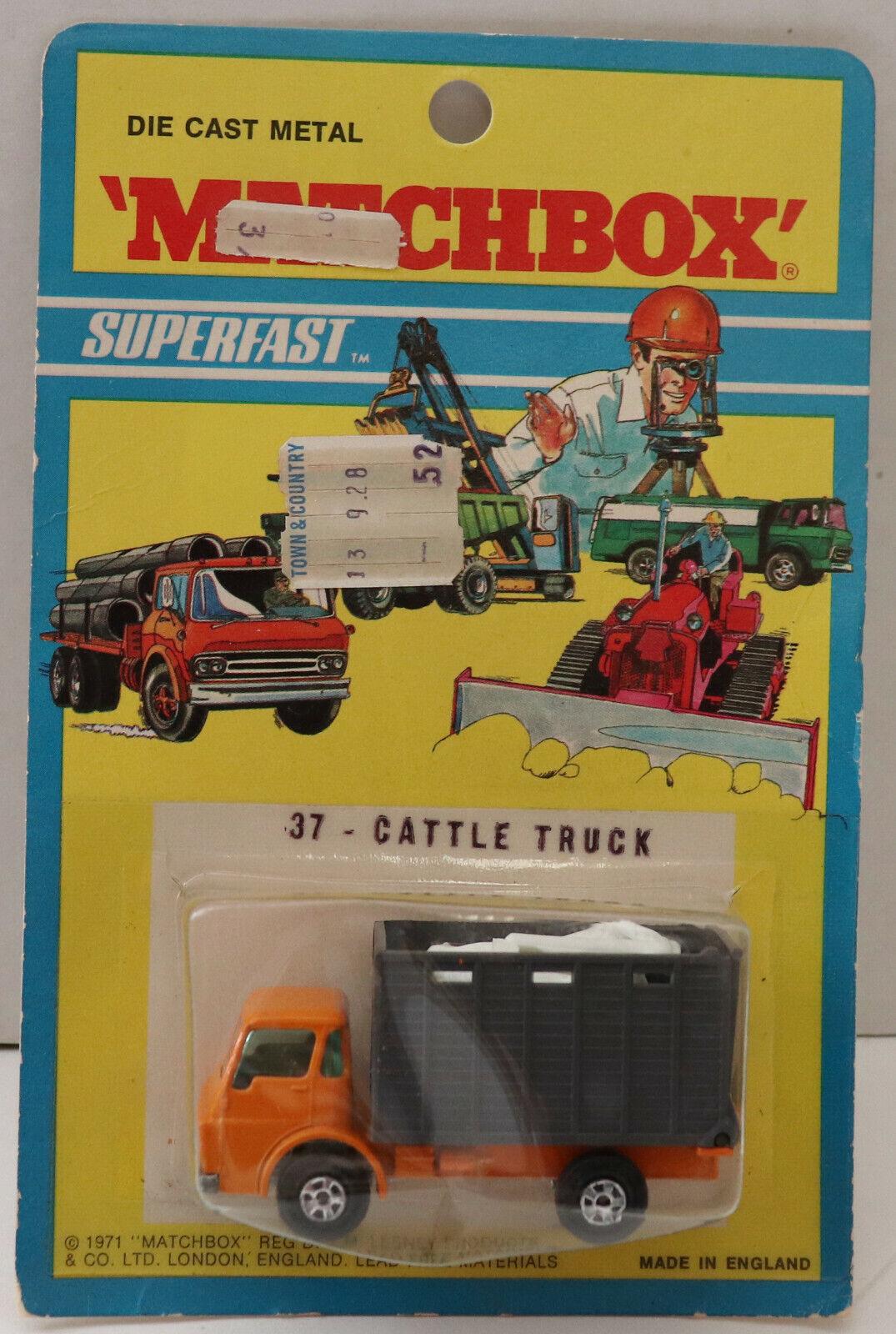 Seleccione de las marcas más nuevas como DTE 1971 tarjeta Lesney Matchbox Trans súperfast súperfast súperfast 37-A Naranja gris ganado camión niop  nuevo sádico