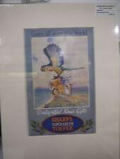 Original 1925 Vintage Advert mounted ready to frame Sharp's Super Kreem Toffee