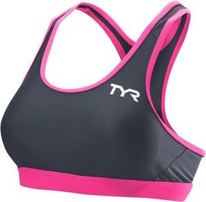 db98092915bd1 TYR Competitor Thin Strap Women s Bra Gray pink MD for sale online ...