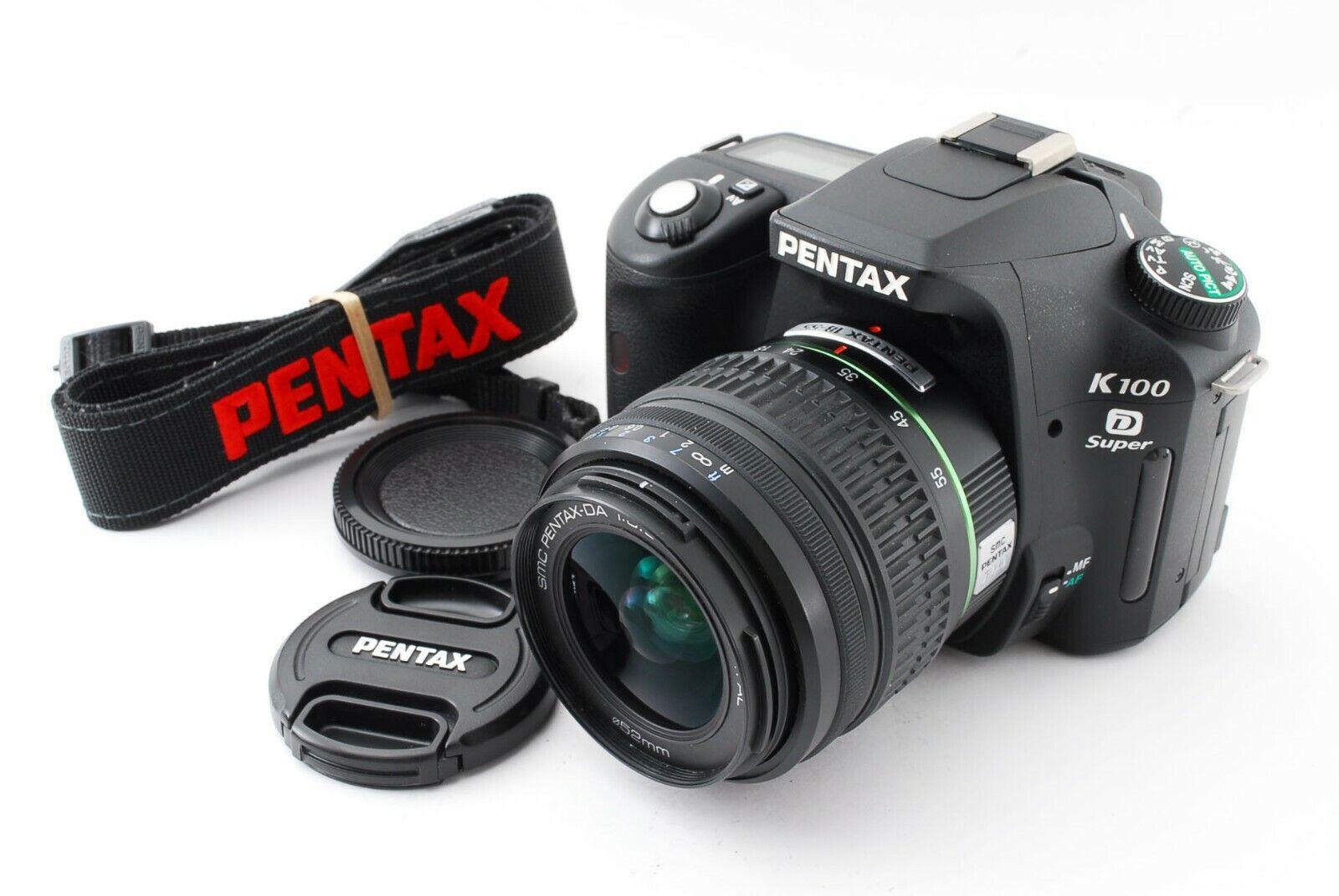 Pentax K100D Super 6.1mp Digital SLR Camera (1500shots) w/ 18-55mm [Exc+++] #1A camera digital k100d pentax slr super