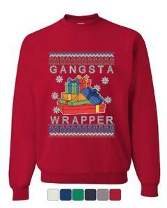 Gangsta-Wrapper-Ugly-Sweater-Sweatshirt-Merry-Jolly-Christmas-Xmas-Sweater