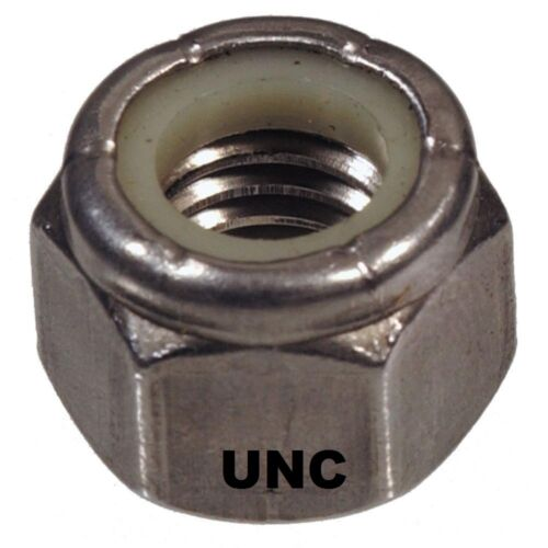 "Qty 300 Hex Nyloc Nut 14"" UNC Imperial Stainless Steel SS 304 A2 70"