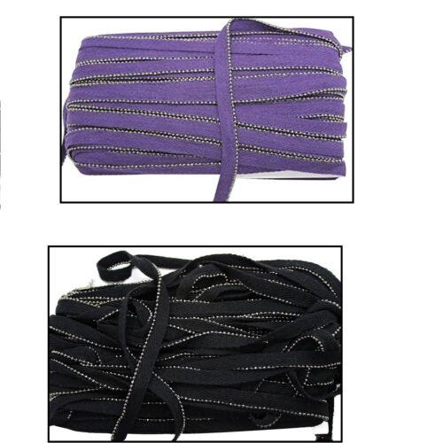 12mm Insertion Piping Cord with Metal Beads Bias Binding Tape Trim Braid Ribbon