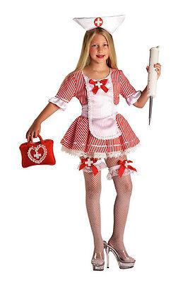Vestito Costume Carnevale Infermiera Dottoressa 5 6 7 8 9 Anni