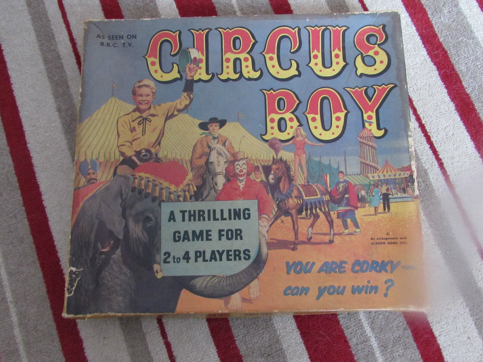 1950'S ARIEL GAMES CIRCUS BOY BOARD GAME 100% COMPLETE