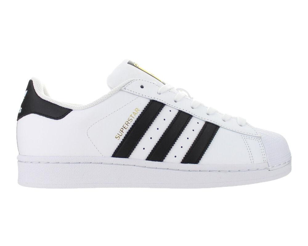 Mens Adidas Superstar Adidas Originals blanc noir C77124