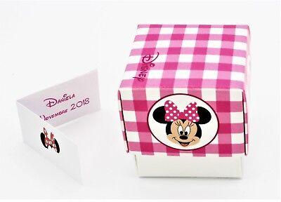 N.20 Scatola Bomboniera Con Apertura Fleur Portaconfetti Inserto Disney Minnie R Lussuoso Nel Design