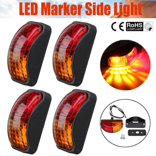 Red Amber 2 LED Side Marker Lights Lamp Trailer Truck Lorry Caravan Van 12V-24V