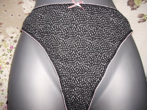 THONGS 5 EX STORE STRINGS,KNICKERS,BRAND NEW  COTTON MIX,.FREE POSTAGE